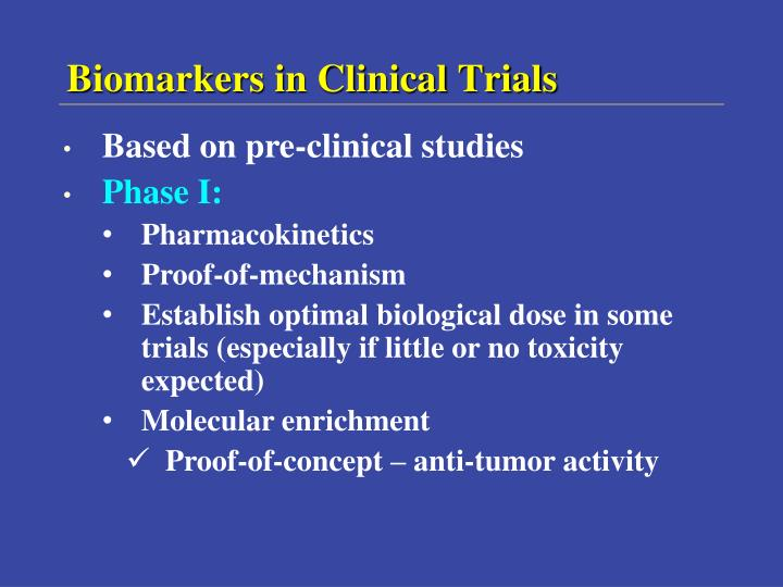 Biomarkers in Clinical Trials