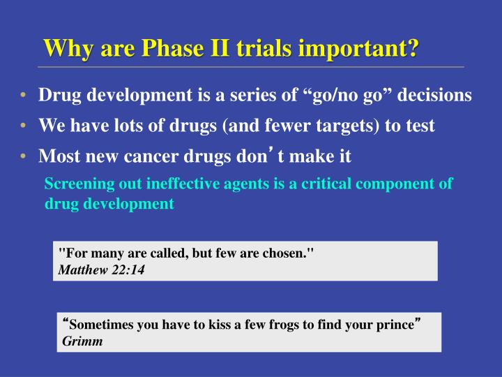 Why are Phase II trials important?