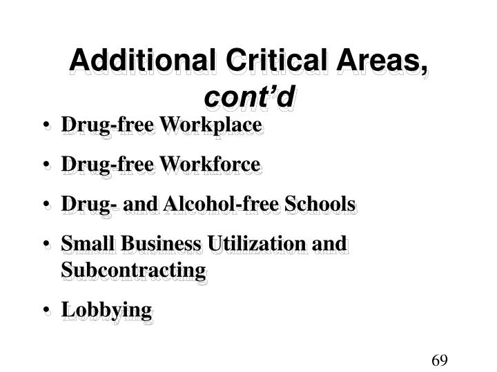 Additional Critical Areas,
