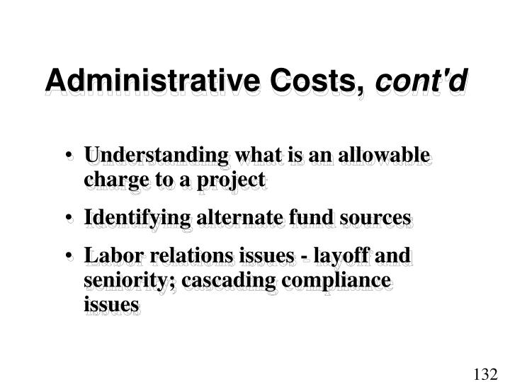 Administrative Costs,