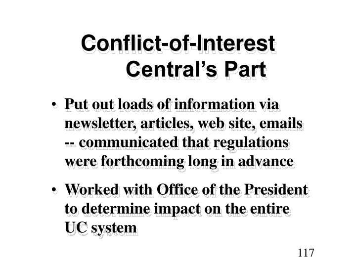 Conflict-of-Interest Central's Part