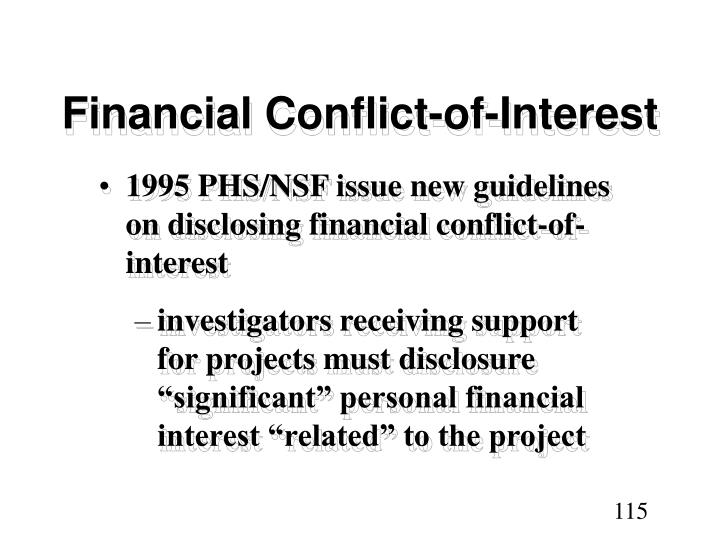 Financial Conflict-of-Interest