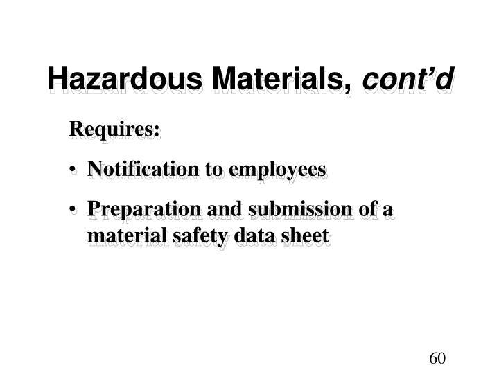 Hazardous Materials,