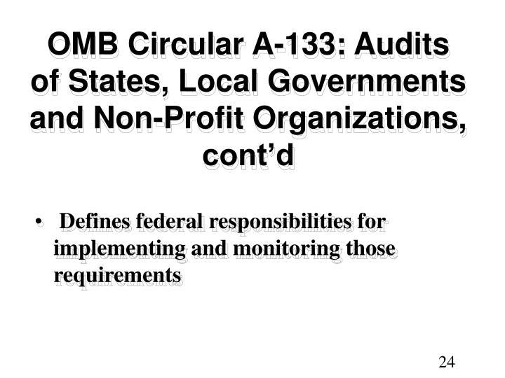 OMB Circular A-133: Audits
