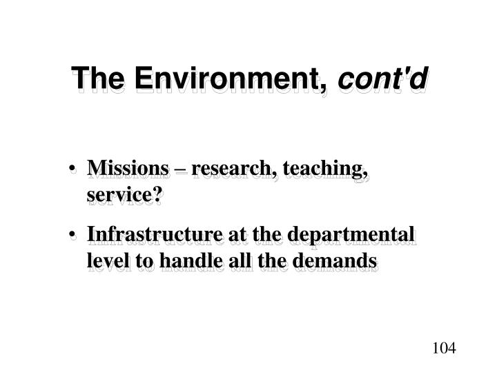 The Environment,