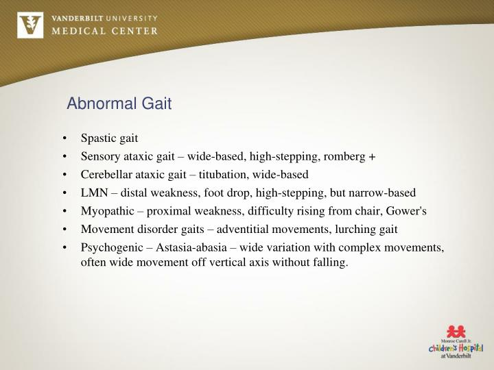 Abnormal Gait