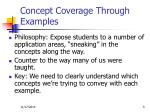 concept coverage through examples