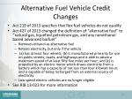 alternative fuel vehicle credit changes
