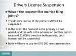 drivers license suspension