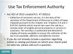 use tax enforcement authority