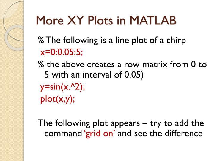 More XY Plots in MATLAB