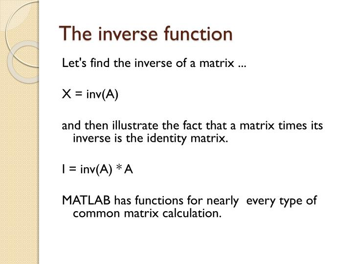 The inverse function
