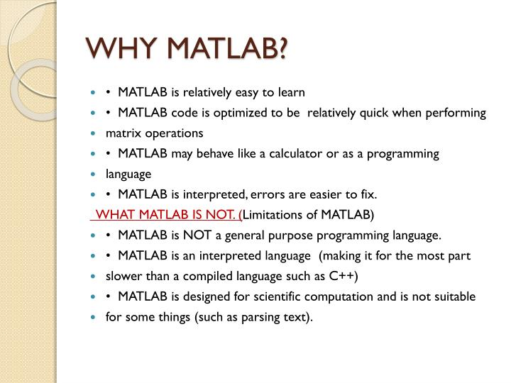 Why matlab