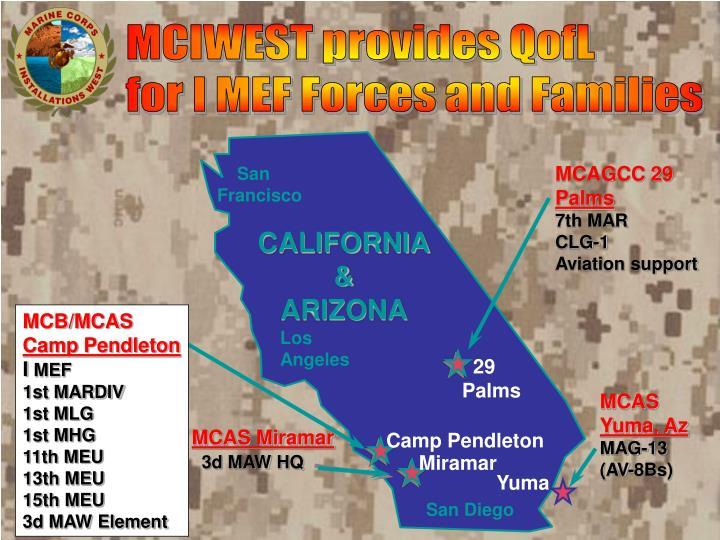 MCIWEST provides QofL