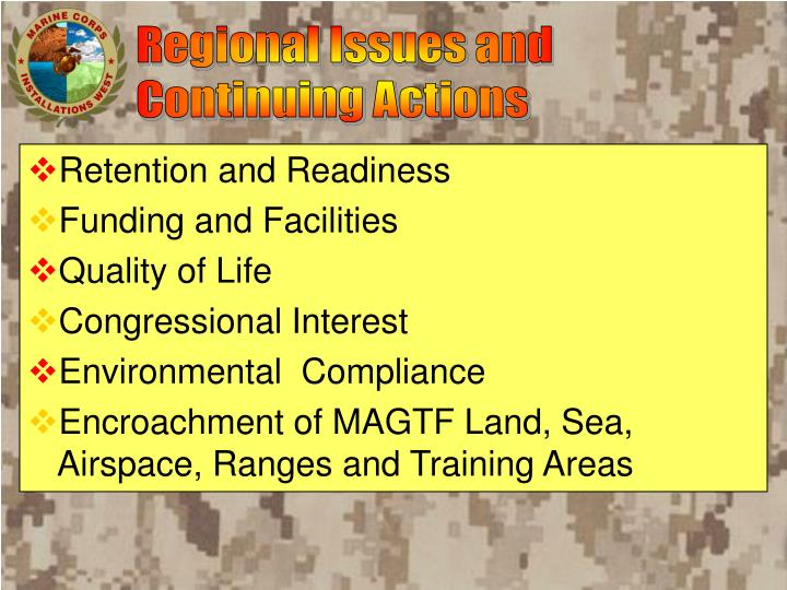 Regional Issues and