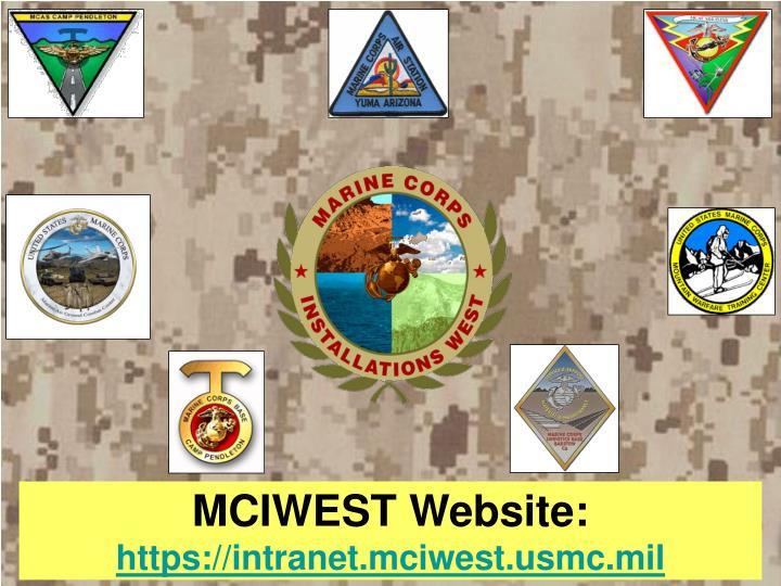 MCIWEST Website:
