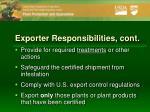 exporter responsibilities cont