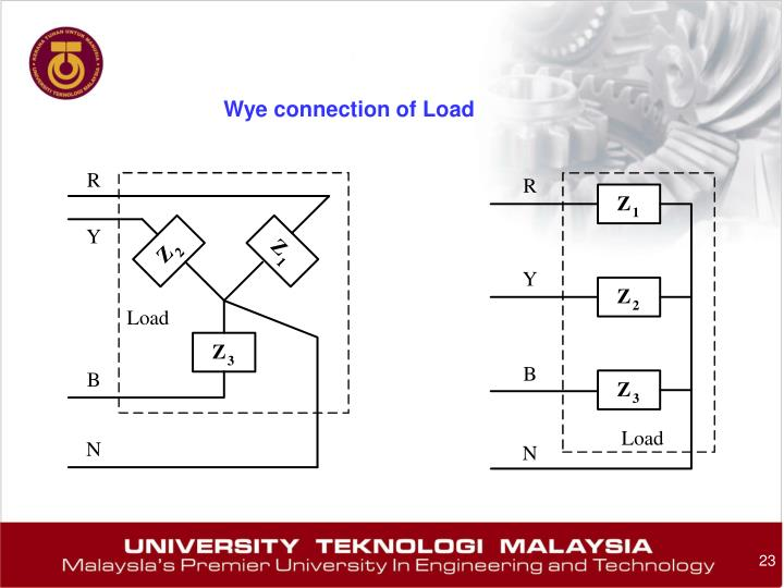 Wye connection of Load