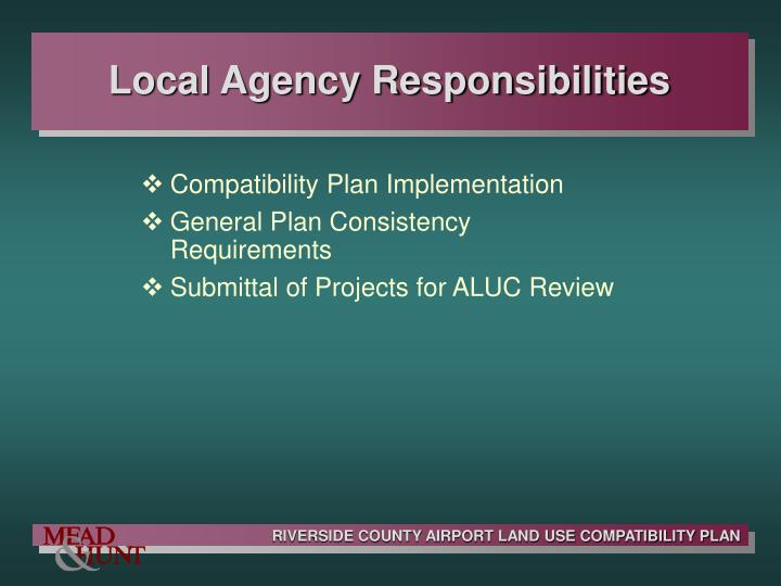 Local Agency Responsibilities
