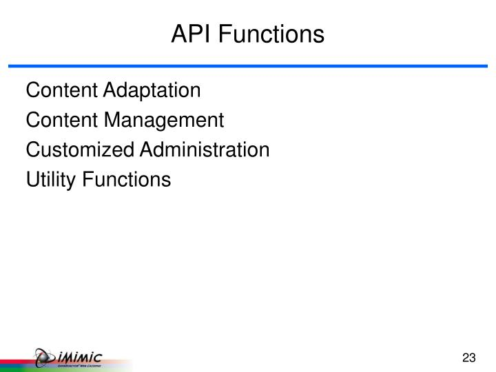 API Functions