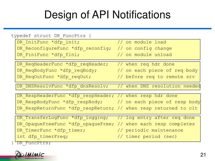 Design of API Notifications