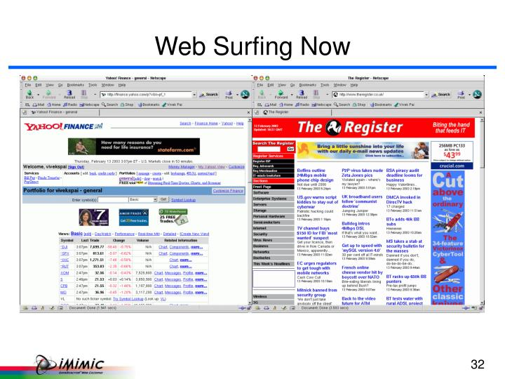Web Surfing Now