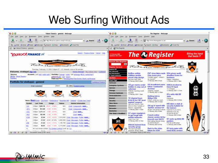 Web Surfing Without Ads