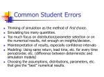 common student errors