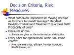 decision criteria risk measures