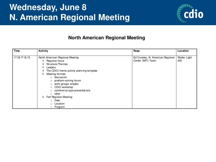 Wednesday, June 8