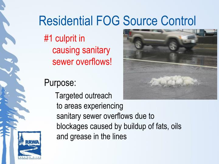Residential FOG Source Control