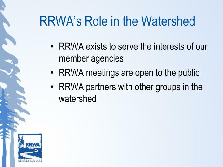 RRWA's Role in the Watershed