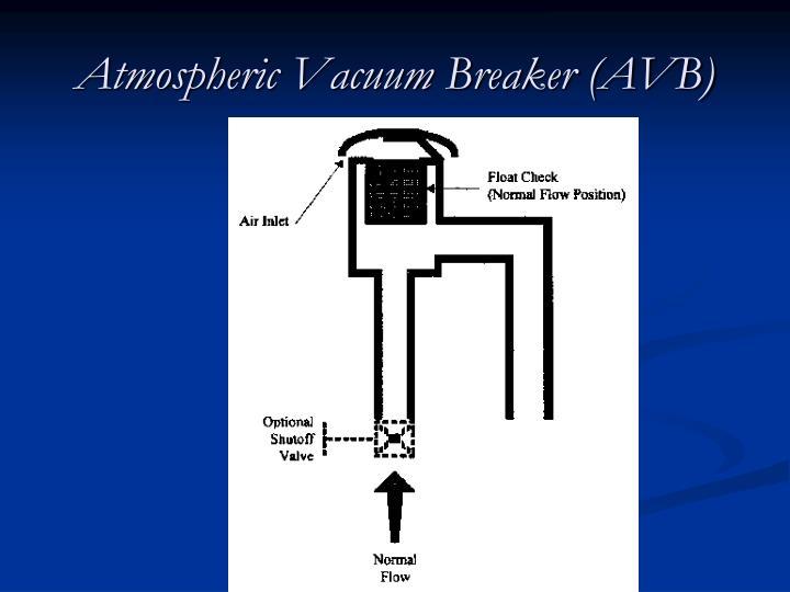 Atmospheric Vacuum Breaker (AVB)