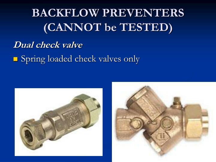 BACKFLOW PREVENTERS