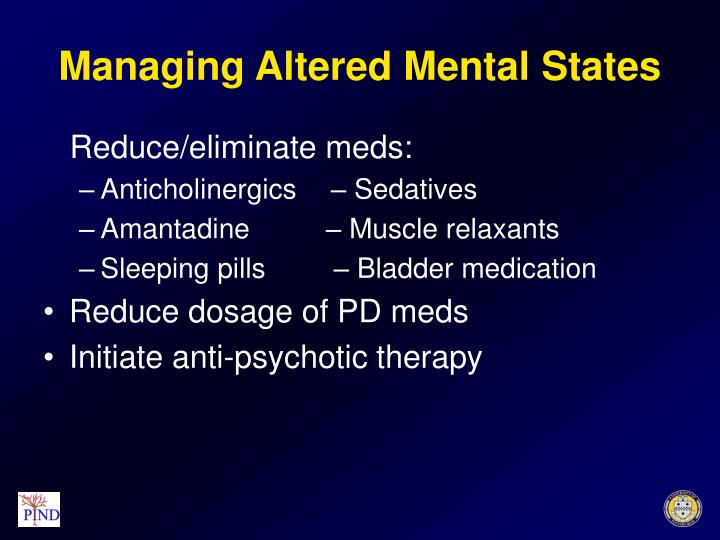 Managing Altered Mental States