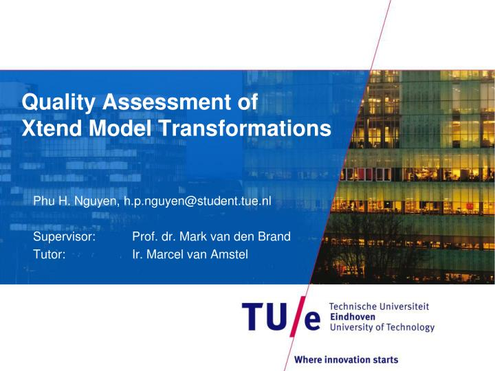 quality assessment of xtend model transformations n.