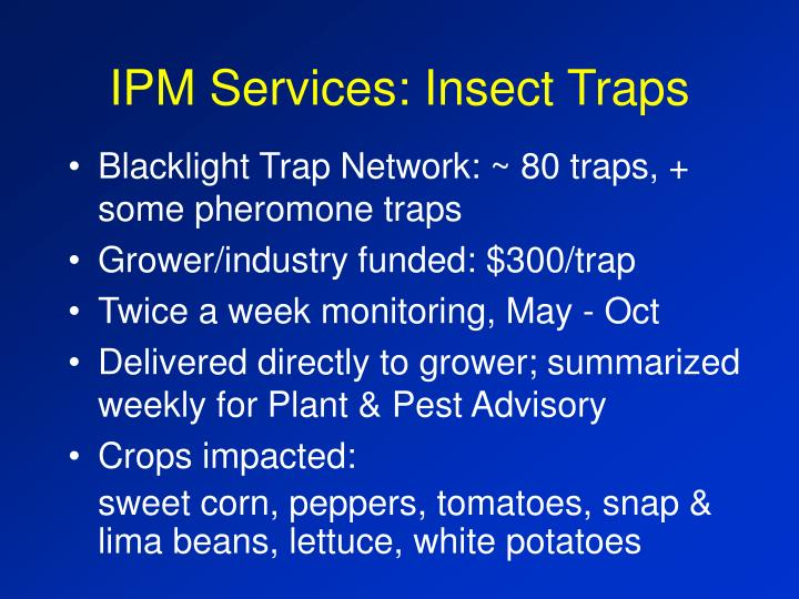 Ipm services insect traps