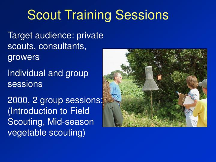 Scout Training Sessions