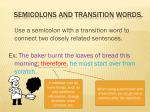 semicolons and transition words