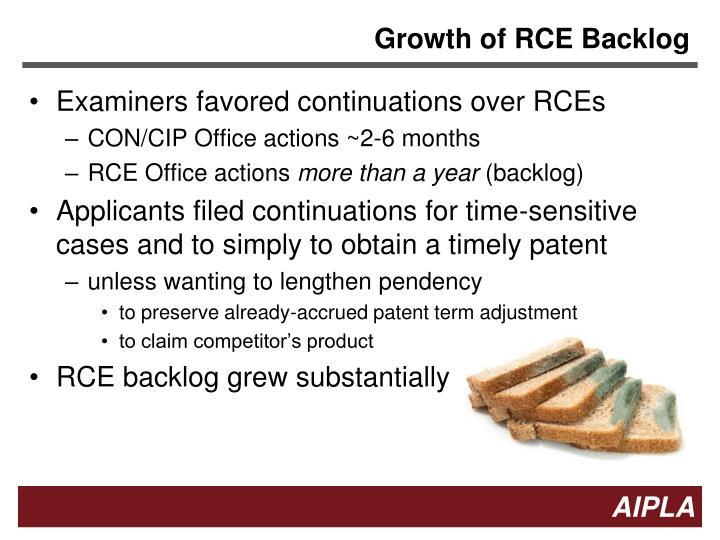 Growth of RCE Backlog