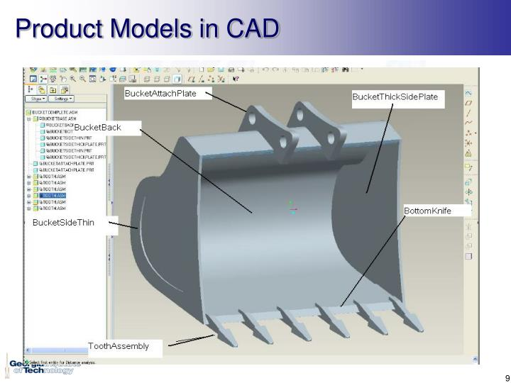 Product Models in CAD