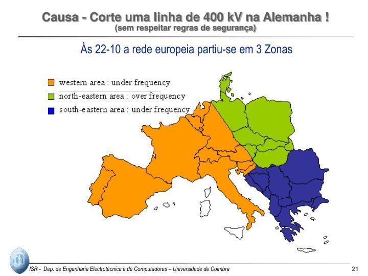 Causa - Corte uma linha de 400 kV na Alemanha !