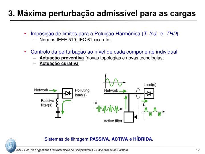 3. Máxima perturbação admissível para as cargas