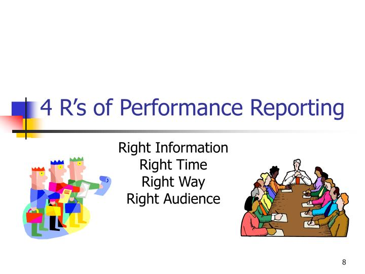 4 R's of Performance Reporting