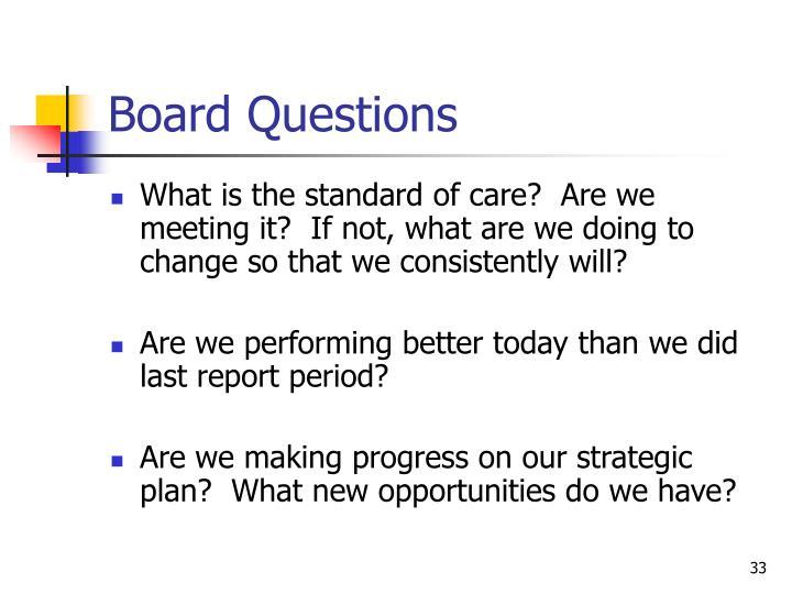 Board Questions