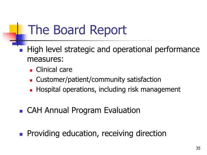 The Board Report