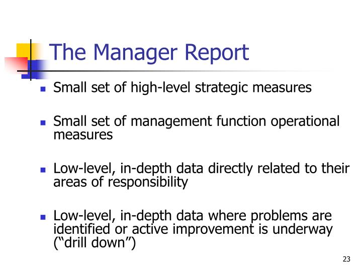 The Manager Report