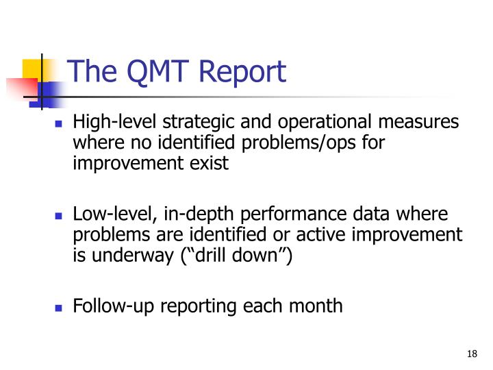 The QMT Report