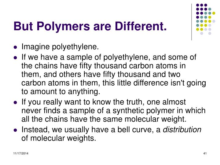 But Polymers are Different.
