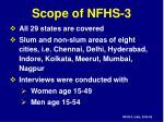 scope of nfhs 3